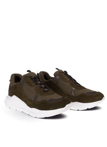 Deery Hakiki Deri Sneakers Yeşil